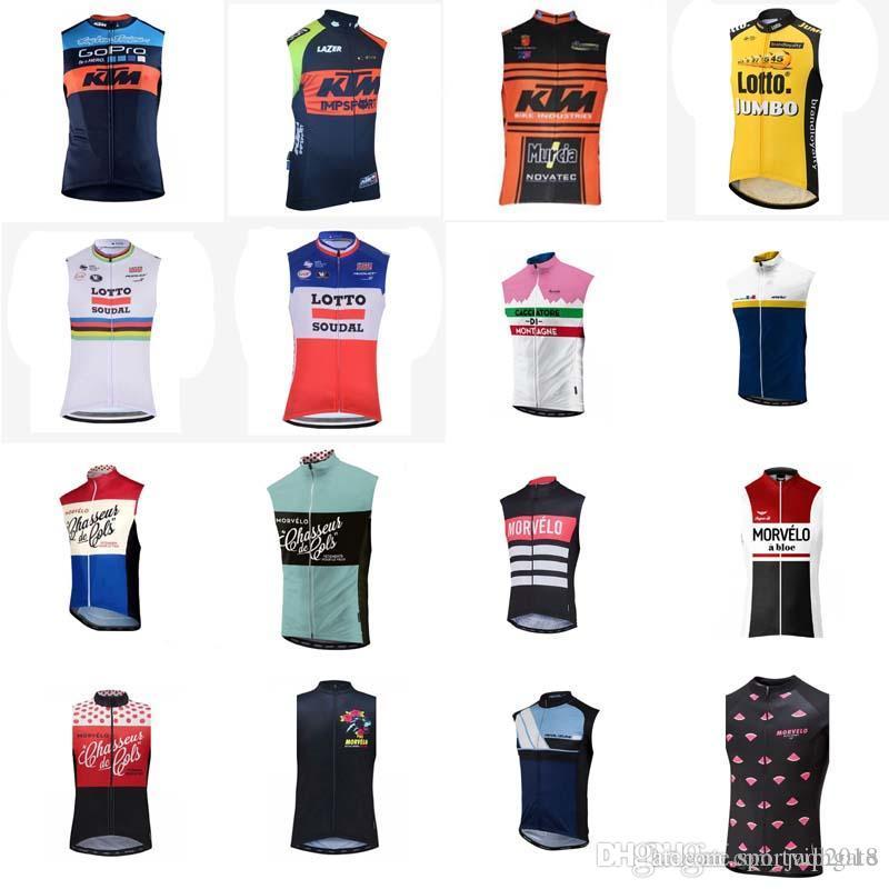 457cb218a4 KTM Morvelo Team Ciclismo Sin Mangas Jersey Chaleco Summer Stlye Ropa  Deportiva De Bicicleta De Secado Rápido MTB Bike Sin Mangas Ciclismo D0818  Por ...