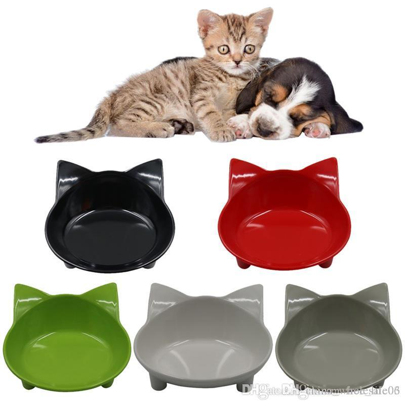 2018 cat dog feeding bowl cat puppy food dish container pet puppy