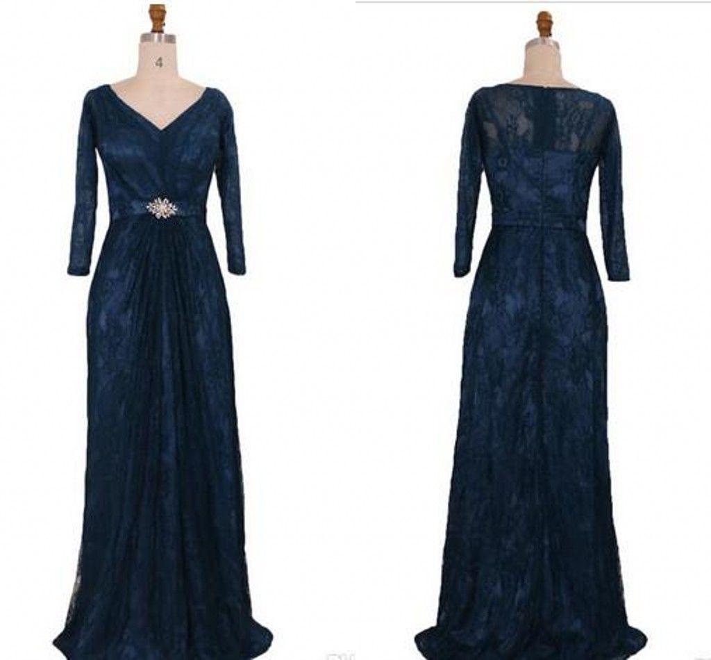 y Navy Blue Lace Mother The Bride Groom Dresses Plus Size V