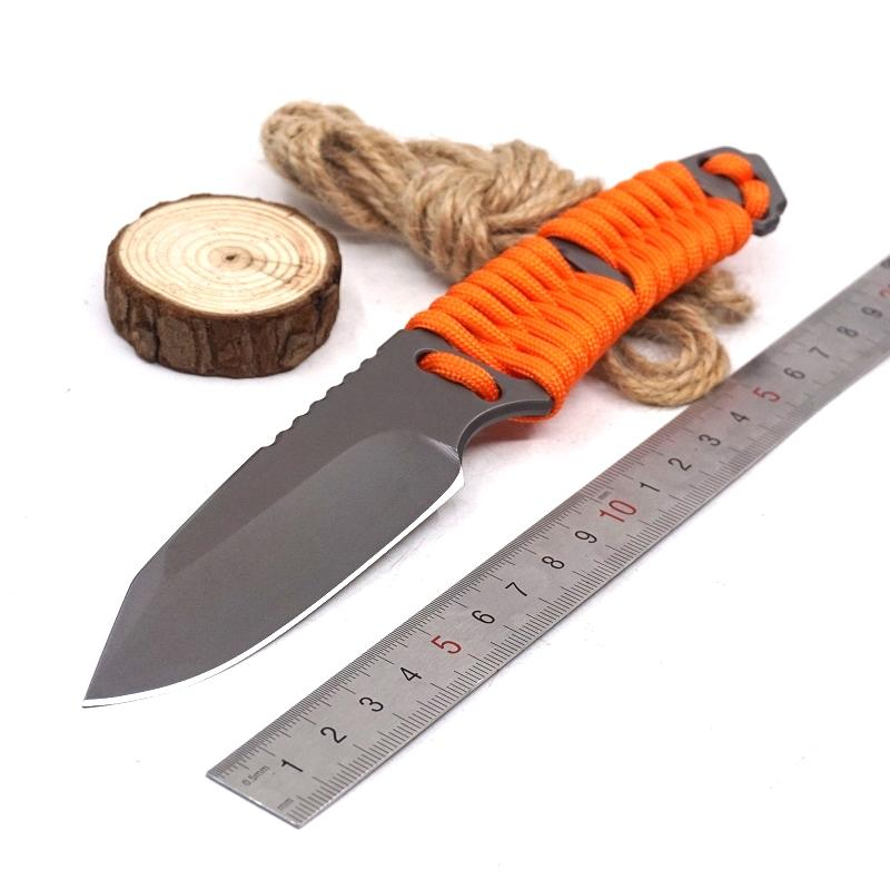 Fixed Blade Hunting Knife Leggings Diving Knife Survival Tactical Pocket Knives with scabbard+necklace Camping EDC Outdoor Tool
