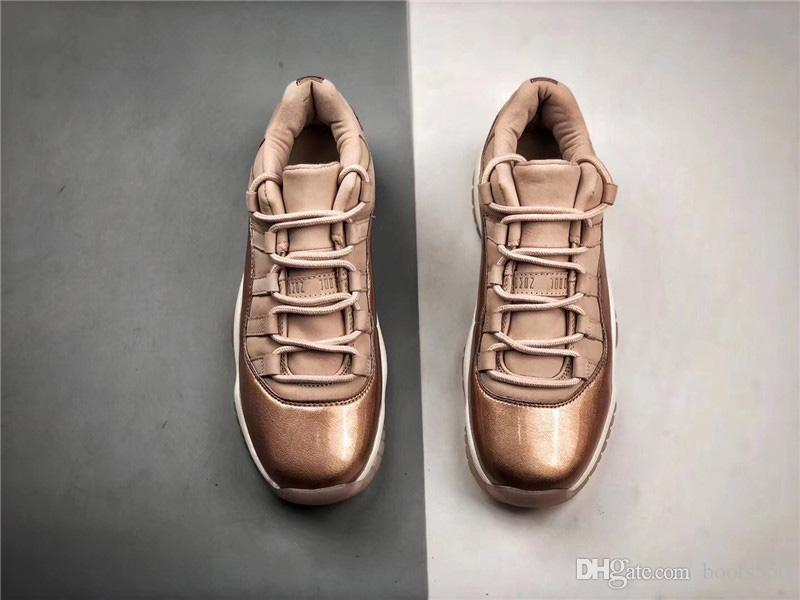 d54d0b4ed5ba Newest 2019 11 Low GS Rose Gold 11S Basketball Women Shoes Sneakers For Men  Authentic Real Carbon Fiber AH7860 105 With Original Box Shoes Sneakers  Jordans ...