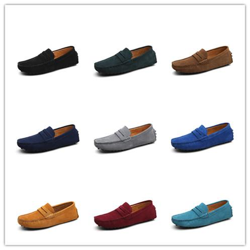 d4d0eeb3a80 2018 Men S Penny Loafers Moccasin Driving Shoes Slip On Flats Boat ...