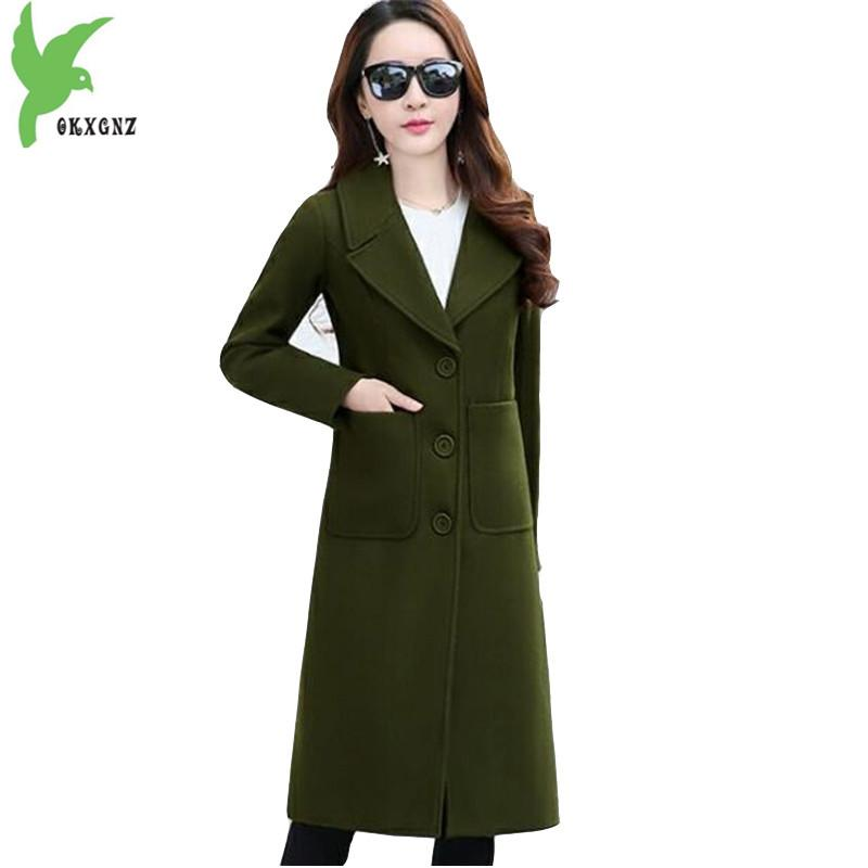 8a25168dd0cd 2019 Winter Coats For Womens 2018 Autumn Quilted Cotton Woolen Coat Plus Size  Jacket Lady Slim Thick Warm Long Woolen Coat OKXGNZ1841 From Edward03