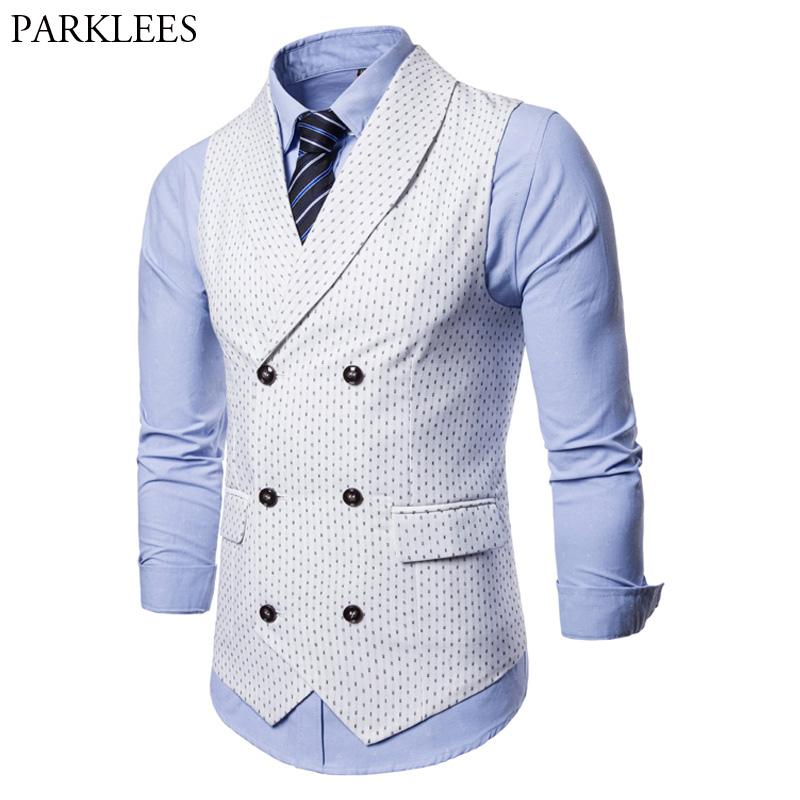 White Slim Fit Double Breasted Suit Vest Men 2018 Autumn New Sleeveless  Waistcoat For Men Business Dress Vests Colete Masculino UK 2019 From  Beenling cd4dd25ef8ee