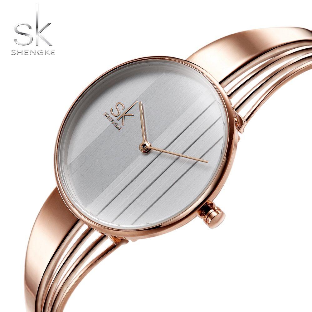 86b382444db Compre SHENGKE Top Marca De Luxo Pulseira Assista Relógios Das Mulheres  Únicas Moda Rose Gold Assista Mulheres Relógios Montre Femme Reloj Mujer De  Beijiaer ...