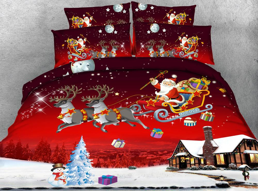s x mas series twin double queen super king size christmas bedding sets 3d santa claus duvet cover set bedroom quilt sets cheap duvet covers full from