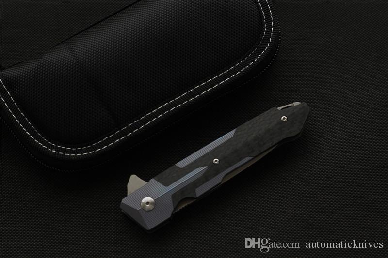 Alta qualità Miker Flipper tasca coltello pieghevole lama maniglia S35VN titanio attrezzi esterni tattica di sopravvivenza di EDC lame di campeggio della lama di caccia