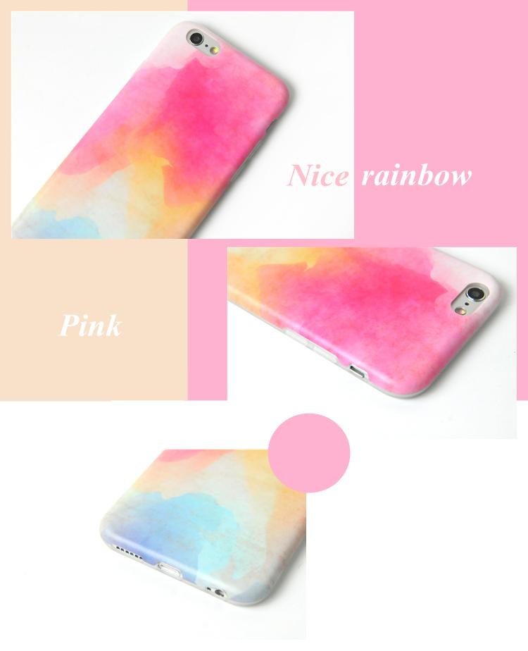 Original Rainbow TPU Phone Case For Apple Iphone 6S 6 7 8 Plus Fresh Watercraft Art Simple Type Back Cover