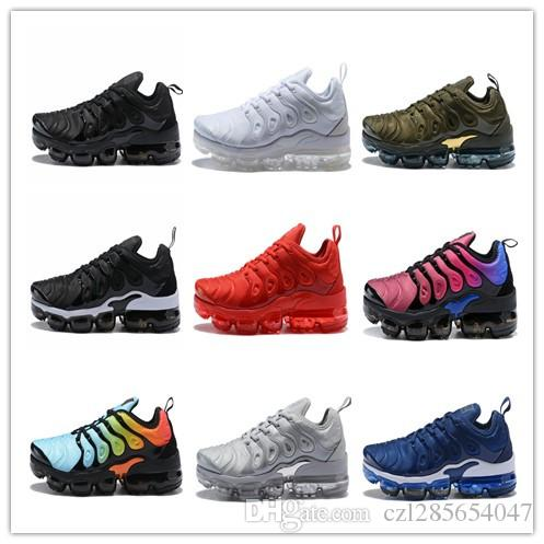 cheap footlocker sale brand new unisex (With Box) 2018 New Vapormax TN Plus SHERBET Running Women Mens Shoes Sports Pack Triple Black TRIPLE WHITE Olive In Metallic Shoes visit new cheap price buy cheap prices vsl4trNpd
