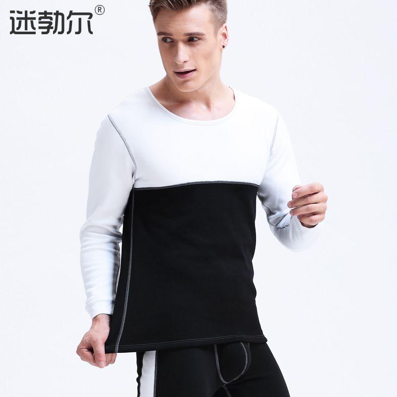 Mens Long Johns Set Man Sexy Fleece Thicken Warm Leggings Tights Sleepwear Men Bodysuit Large Size Thermal Underwear Suits