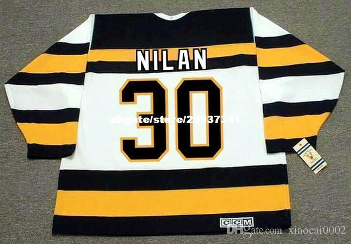 79c84488b 2019 Wholesale Mens CHRIS NILAN Boston Bruins 1992 CCM Vintage Cheap Retro Hockey  Jersey From Xiaocai0002, $26.4 | DHgate.Com