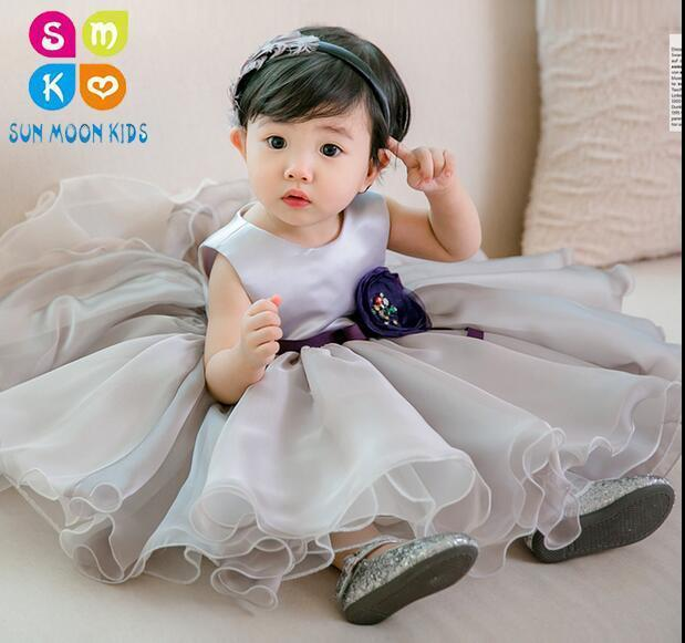 1433083b5 2019 Baby Girls Dress Gray Chiffon Kids Princess 1 Year Birthday Party Tutu Dress  For Baby Costume Infant Christening 0 2 Year From Coolhi, $44.78 | DHgate.