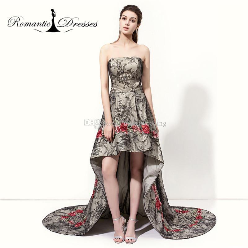 Großhandel Real Fotos Mädchen Prom Kleider High Low Kurzen Rock ...