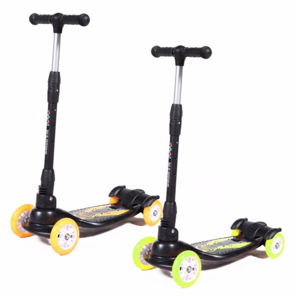 2019 Foldable Design Children Kids 4 Wheels Outdoor Playing Scooter