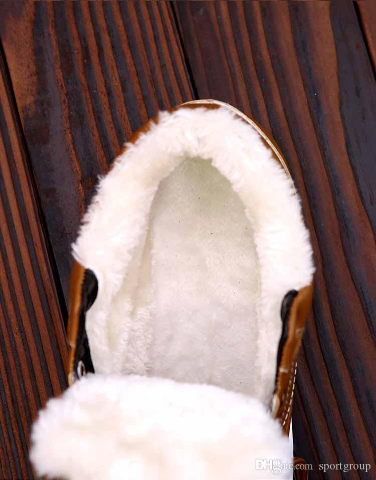Moda Düz adam Kış Sıcak Ayak Bileği çizmeler Mens Ayakkabı Rahat PU Deri beyaz siyah Ayakkabı Spor Sneakers Koşu Koşu Ayakkabıları Açık Havada