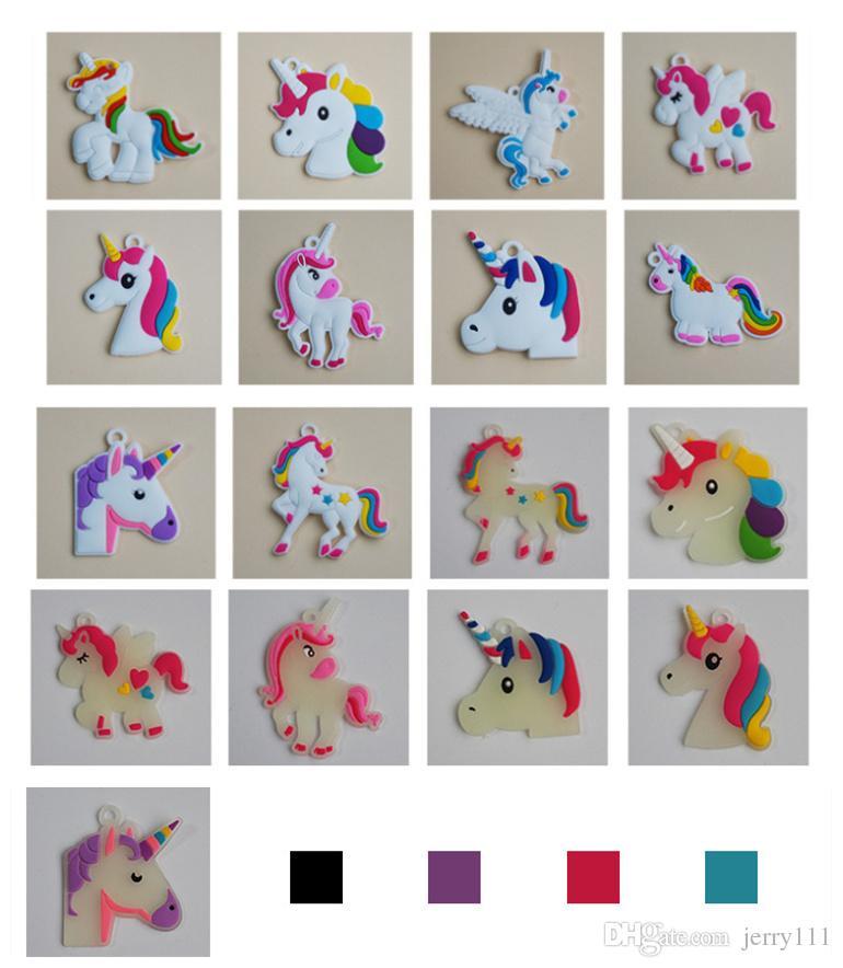 Unicorn Aydınlık Bilezikler Bileklik Unicorn Doğum Günü Partisi Kızlar için Malzemeleri Şekerleri İfade Oyuncaklar Ödüller Hediyeler Silikon bilezik LC764-1