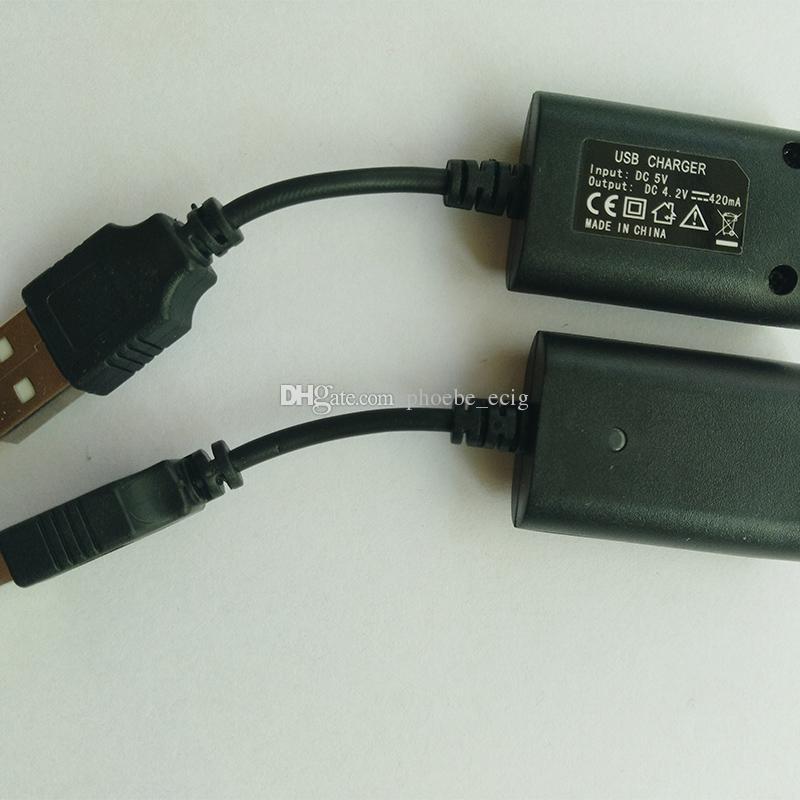 EGO EVOD Carregador USB Cabo Ecig Carregador de Carregamento Rápido com IC Proteger para Ego C Torção Evod Ego Bateria EM ESTOQUE DHL LIVRE