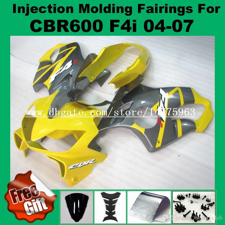 REPSOL Injection Fairings For F4i HONDA CBR600F4i 04 05 06 07 CBR 600 F4i CBR600RR F4i 2004 2005 2006 2007 pre_drilled Fairing kits gifts