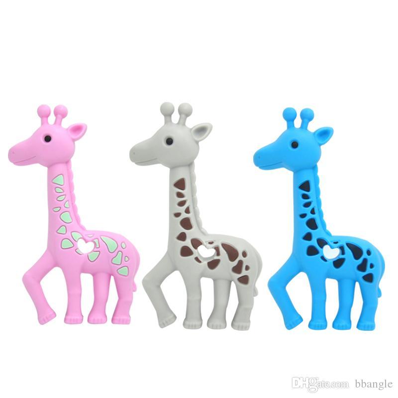 New Giraffe Massaggiagengive Silicone Dentizione Giocattolo Baby Safe Ciondolo Collana Perle masticabili Carino Cervo Sika Massaggiagengive Giocattoli la cura Doccia Regali