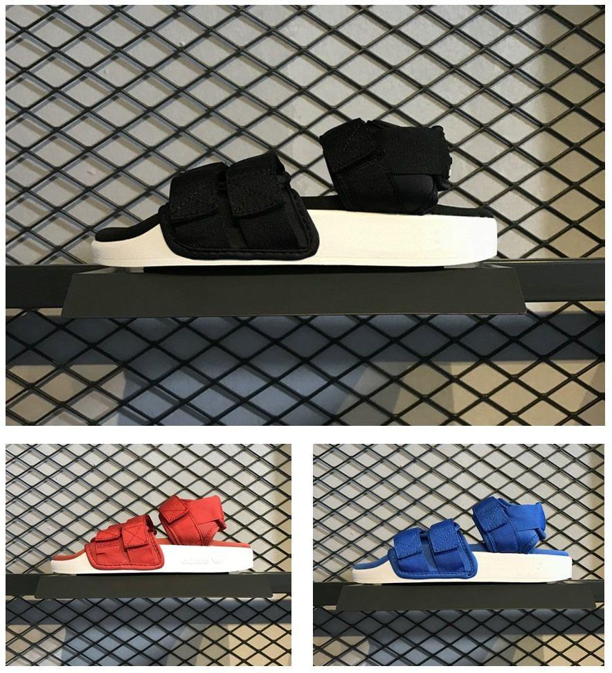887d6e7da 2018 Sandals In The Summer Mens Women ADILETTE SANDAL W New Flat Magic  Joint Leisure Sports Shoes Y 3 S75382 S75380 S75381 Lady Boys Blue Shoes  Cheap ...