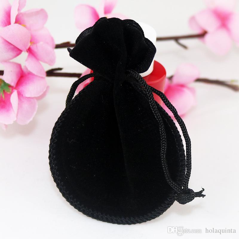 8 * 10 cm bolsos de la joyería de la calabaza bolsa de es pequeños bolsos de lazo de terciopelo regalos del favor de la boda