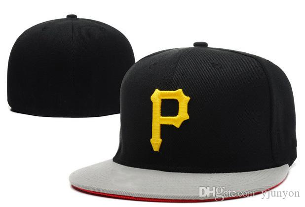 be2d2ea8d2a Retro Fitted Hats Baseball Caps P Letter Flat Brim Hats Fits Size Ball Caps  Pirates Team Chapeu Bone De Beisebol Richardson Hats Headwear From Yjunyon