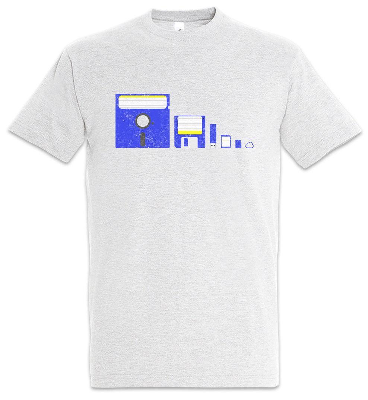 Memory Evolution T Shirt Fun Geek Nerd Usb Cd Computer Science
