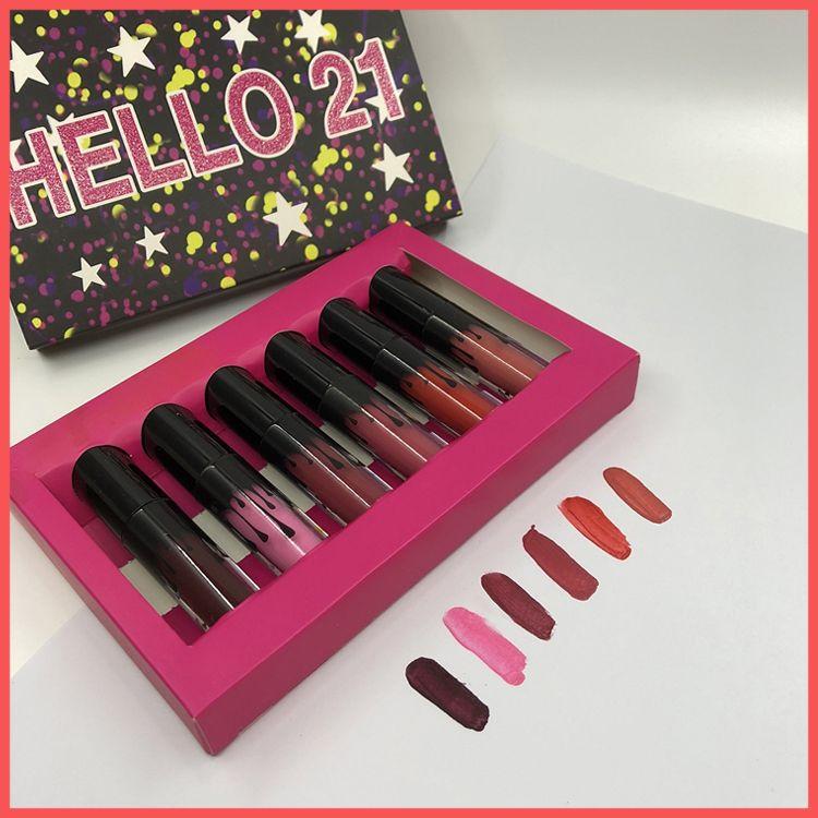 By EPacket New Birthday Hello 21 Lip Gloss Set Makeup Matte Lipstick  Limited Edition Birthday Collection Mini Lipsticks Kit Elle 18 Lip Gloss  Free Skincare ... 4e922ed61ffa