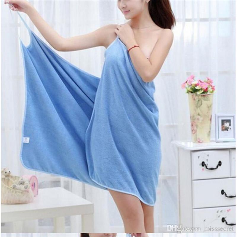 es Nuevo sexy Magic Toallas de baño Lady Girls Kids SPA Toalla de ducha de secado rápido Envoltura corporal Albornoz Beach Dress Wearable Magic Towel
