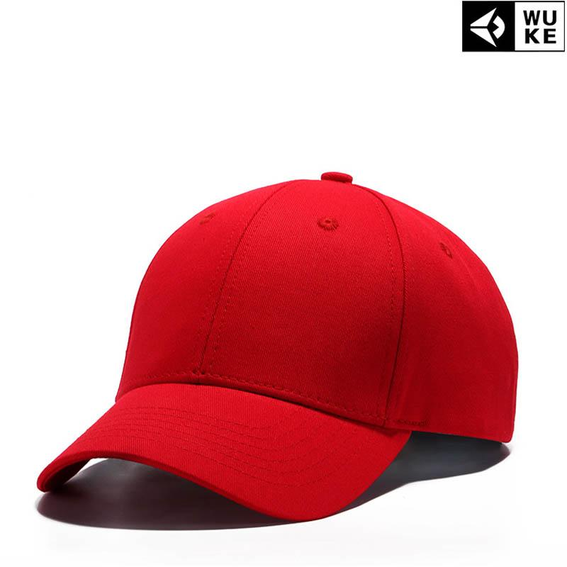 2018 Red Black Cap Solid Color Baseball Snapback Caps Cotton Casquette Hats  Fitted Casual Gorras Hip Hop Dad Hats Women Unisex Cap Shop Flexfit Caps  From ... a18cd05f719