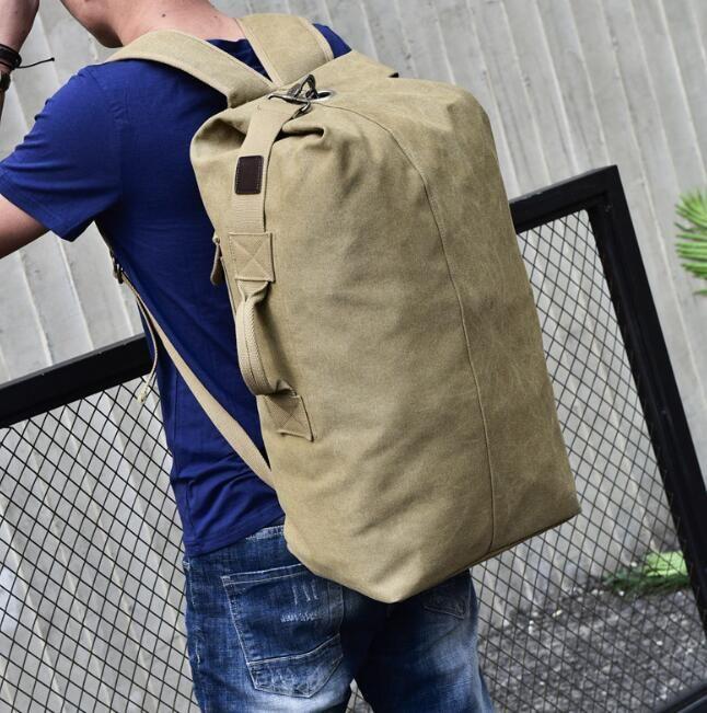61500c993346 Luxury Mens Shoulder Bag 2018 Fashion Large Capacity Outdoor Travel Canvas  Shoulder Bag Mens Fashion Backpack Jansport Backpacks School Bags From Yybag