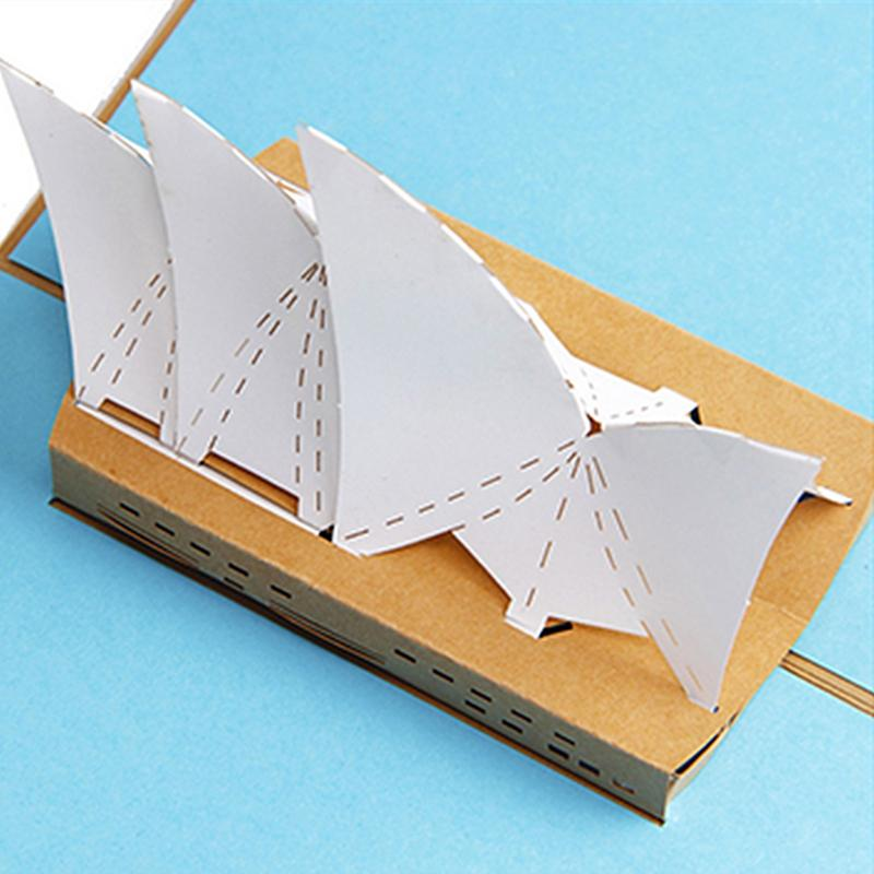 3D Greeting Card Pop Up Paper Cut Postcard Birthday Valentines Party Present Sydney Opera House Cards