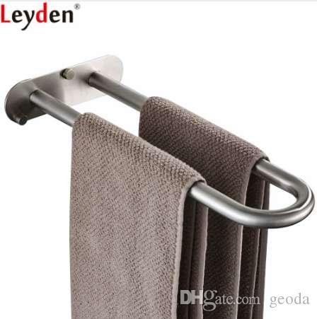 2019 Leyden 304 Stainless Steel Brushed Double Bars Towel Ring Wall