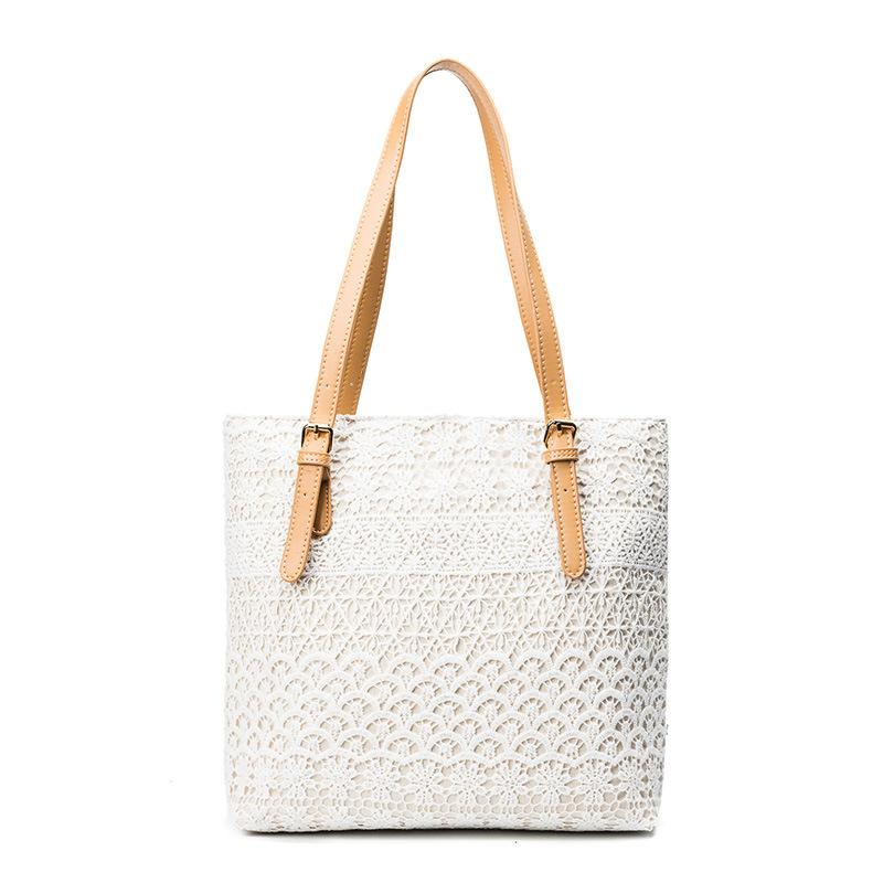 New Fashion Ladies White Black Lace Handbags Tote Women Feminine Shoulder  Bag Shopping Bags For Girls Female Vintage Handbag Cute Bags Purses For Women  From ... 282aa561b301a