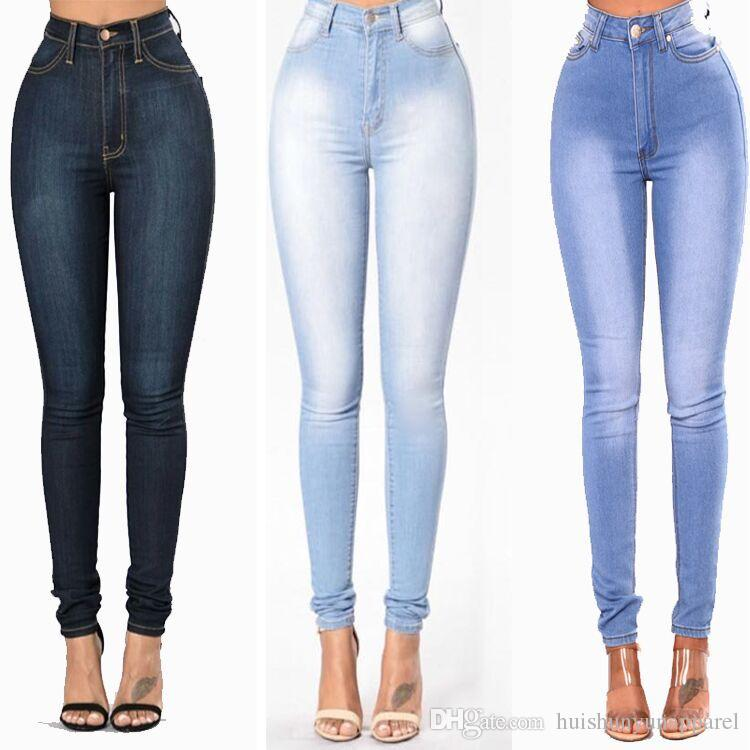 971c8ea7c635 2019 New Arrived Plus Size Faded Jeans For Women Stretchy Denim Skinny  Pants Trousers Female Sexy Pencil Pants From Huishunyunapparel