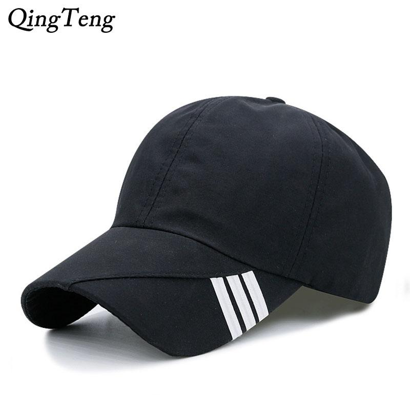 d6066ca0 2018 Unisex Summer Baseball Cap Men Breathable Quick Drying Mesh Hats Women  Sunshade Caps Adjustable Solid Snapback Hat Army Hats Custom Caps From  Fotiaoqia ...