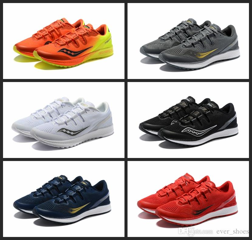8681c5d9221f 2018 Fashion New Saucony Freedom ISO Mesh Summer Running Shoes Men Mens  Casual Sports Trainers Jogging Sneakers Size 36 44 Best Running Shoe  Neutral Running ...