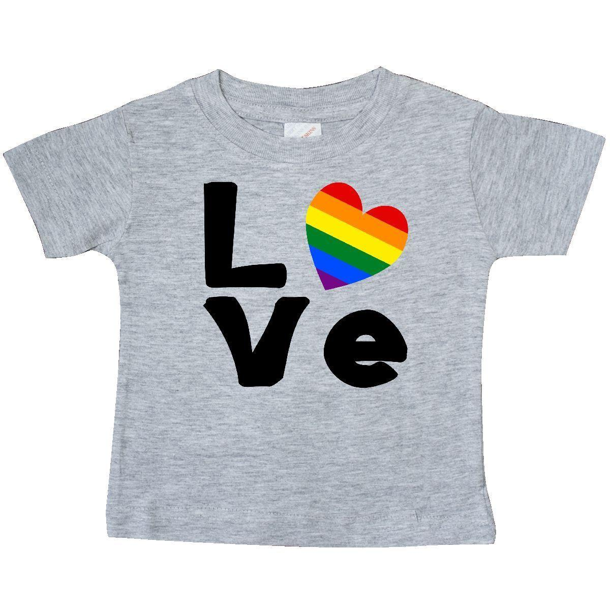 Inktastic Gay Love Black Baby T Shirt Pride Rainbow Flag Heart Lgbt T Shirt Tees Funny Free Shipping Unisex Casual Tee Gift