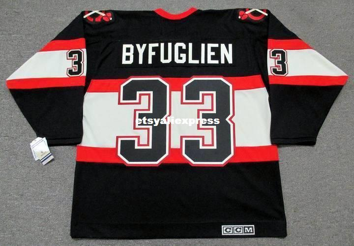 premium selection fefb4 63378 custom Mens DUSTIN BYFUGLIEN Chicago Blackhawks 1930 s CCM Jerseys Vintage  Cheap Retro Hockey Jersey