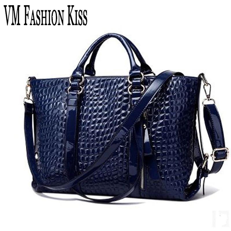 aa665208fe VM FASHION KISS Ladies Shoulder Bags Luxury Women Leisure Tote European And  American Famous Handbags Italian Leather Crossbody Name Brand Purses  Overnight ...
