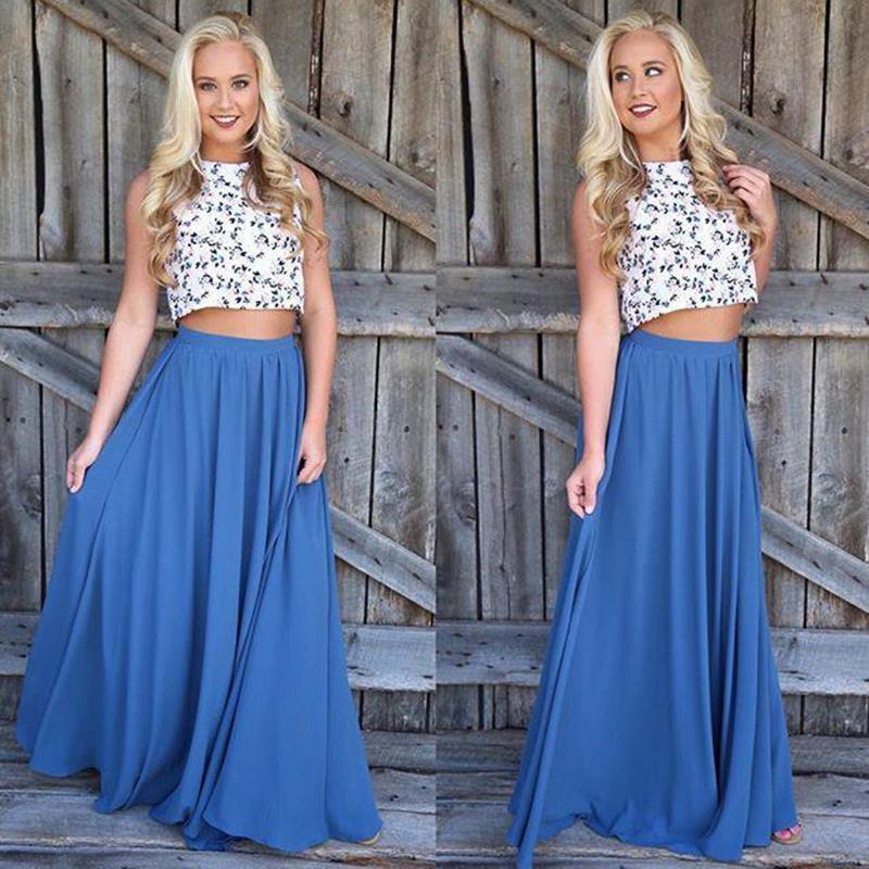 dcb13b861 2019 Long Skirt Elegant Women Summer High Waist Maxi Faldas Solid Color  Blue Pink Female Clothes Floor Length Skirt LJ9774Y From Modeng03, $34.83    DHgate.