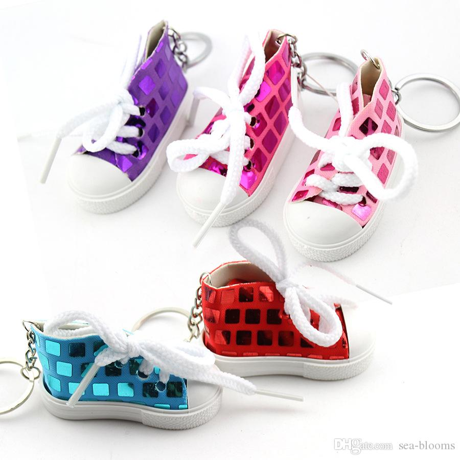 Funny Sequins Shoes Keychains For Female Purse Car Key Rings Women S  Sneakers Canvas Shoes Simulation Cute Key Holder Gift H487Q Customized  Keychains ... 2f001dd799
