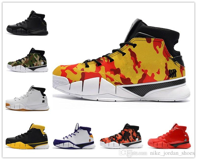 9e8b7a44465b 2019 2018 Undefeated Zoom Kobe 1 Protro Camo Yellow Camo PE Del Sol  White Gum Men Basketball Shoes UND Final Seconds Sports Sneakers From  Nike jordan shoes