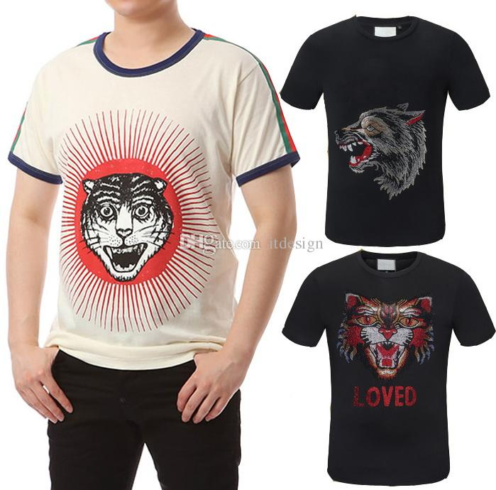 Rhinestone T Shirt Designs | Rhinestone T Shirt Man Hot Sale Luxury Design Black Color Slim Fit S
