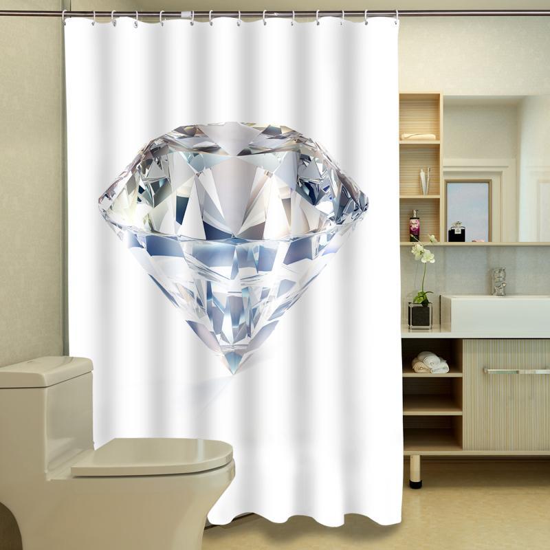 3D Duschvorhänge South African Big Diamond Muster Wasserdichtes Gewebe Bad  Vorhänge Waschbar Bad Vorhang Bad Produkte
