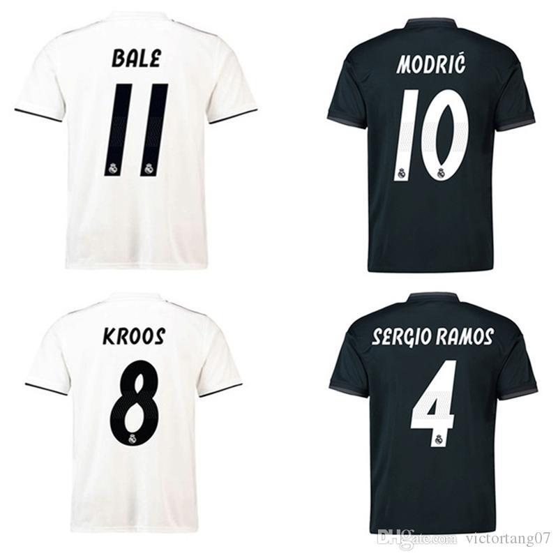18 19 Jersey De Futbol Real Madrid Home Jersey De Futbol Blanco ...