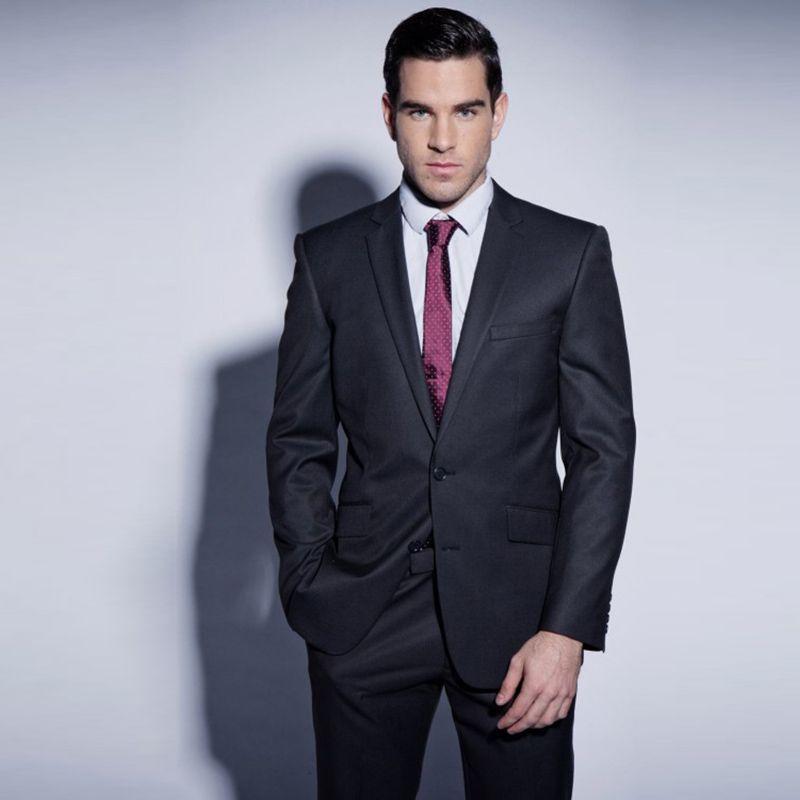 Acquista Abiti Da Uomo Belli 2018 Nero Risvolto Risvolto Da Sposa Business Suit  Custom Made Smoking Dello Sposo Slim Fit Formal Best Man Prom Party 2 Pezzi  ... 7c4e15b4417