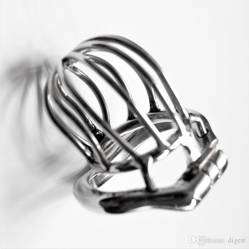 Stealth Lock Chastity Cage Stainless Steel Male Chastity Device Sex Toys For Men Penis Lock Cock Ring