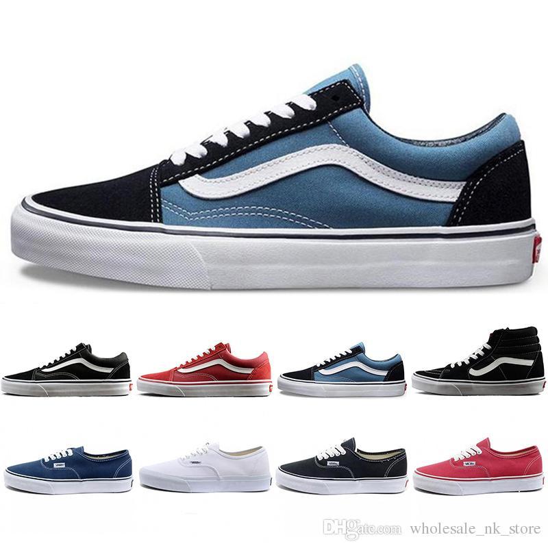 vans Nouvelle arrivée wans classique Old Skool Toile Hommes Skateboard Designer Sports Chaussures de course pour hommes Sneakers Femmes Casual