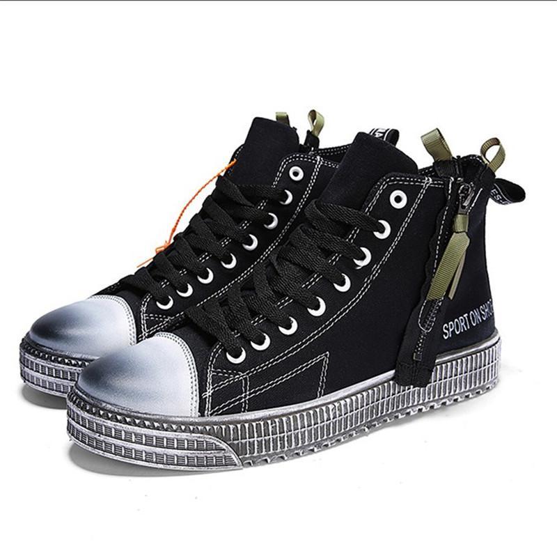 9700be5b99166 Compre Zapatos Deportivos Zapatos De Lona es Disponibles Zapatos De Hombre  Hip Hop Nueva Moda Tendencia Casual Plimsolls Para Hombres Estilo Retro A   48.23 ...
